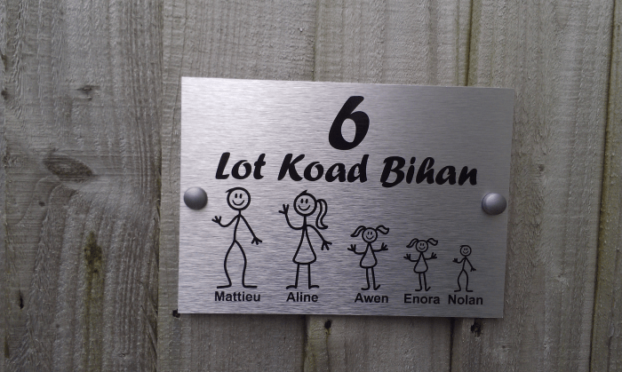 Le Meilleur French Door Plaque Personalised Stick Family House Name Or Ce Mois Ci