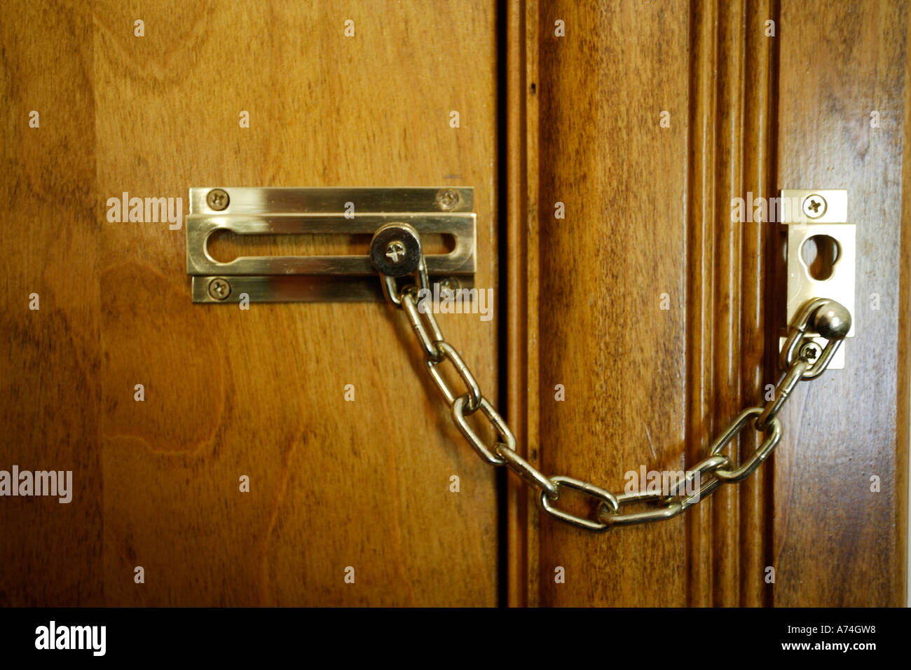 Le Meilleur Locked Door With Chain Lock Stock Photo Royalty Free Ce Mois Ci