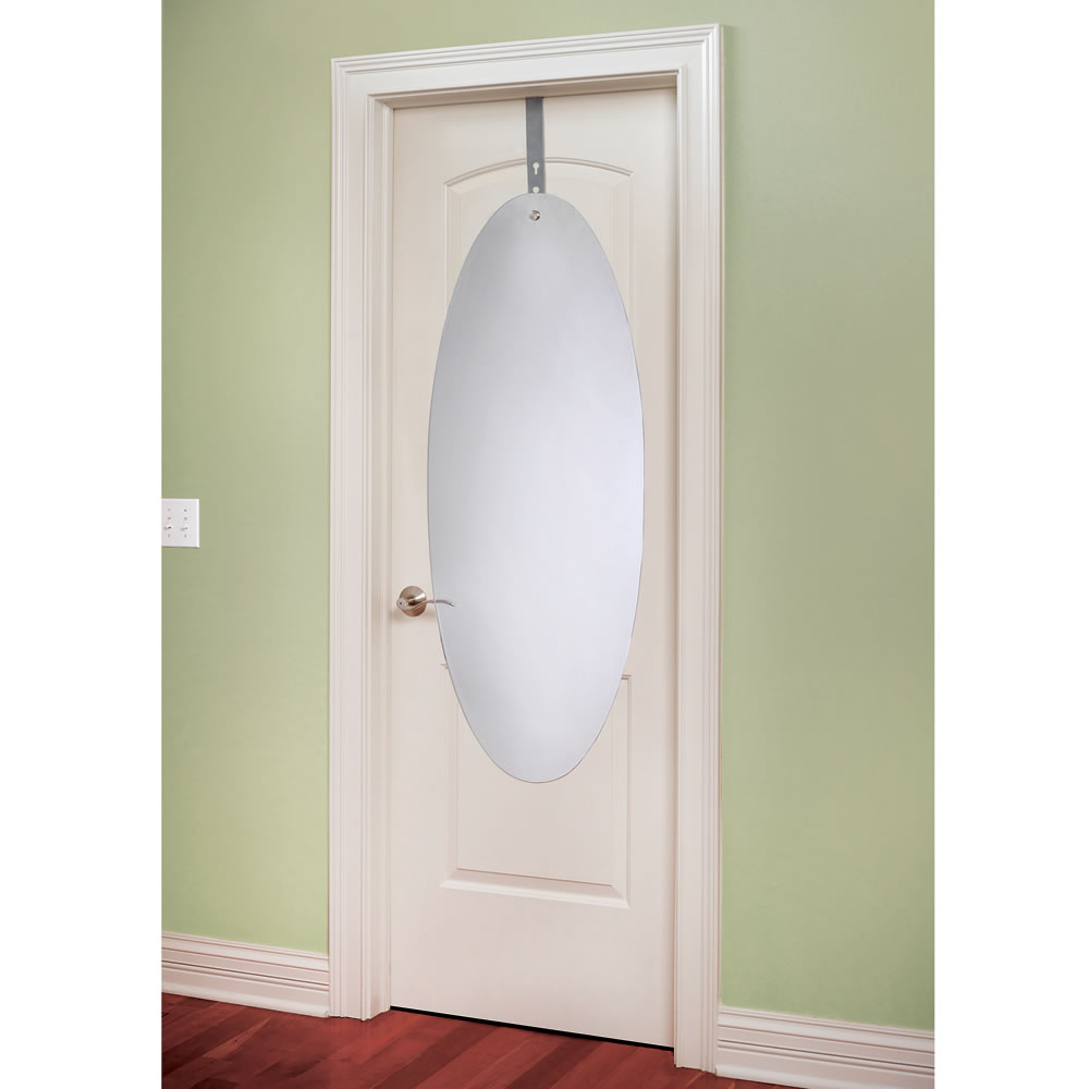 Le Meilleur The Shatterproof Over The Door Mirror Hammacher Schlemmer Ce Mois Ci