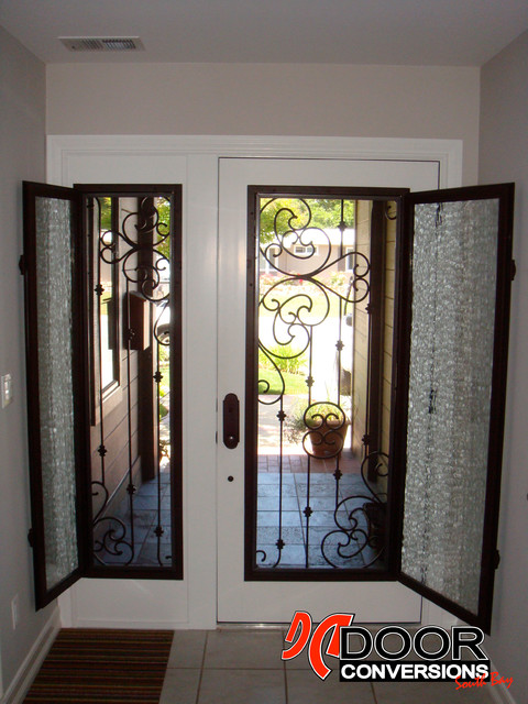 Le Meilleur Wrought Iron Door Inserts Sonata Design Hinged Glass W Ce Mois Ci