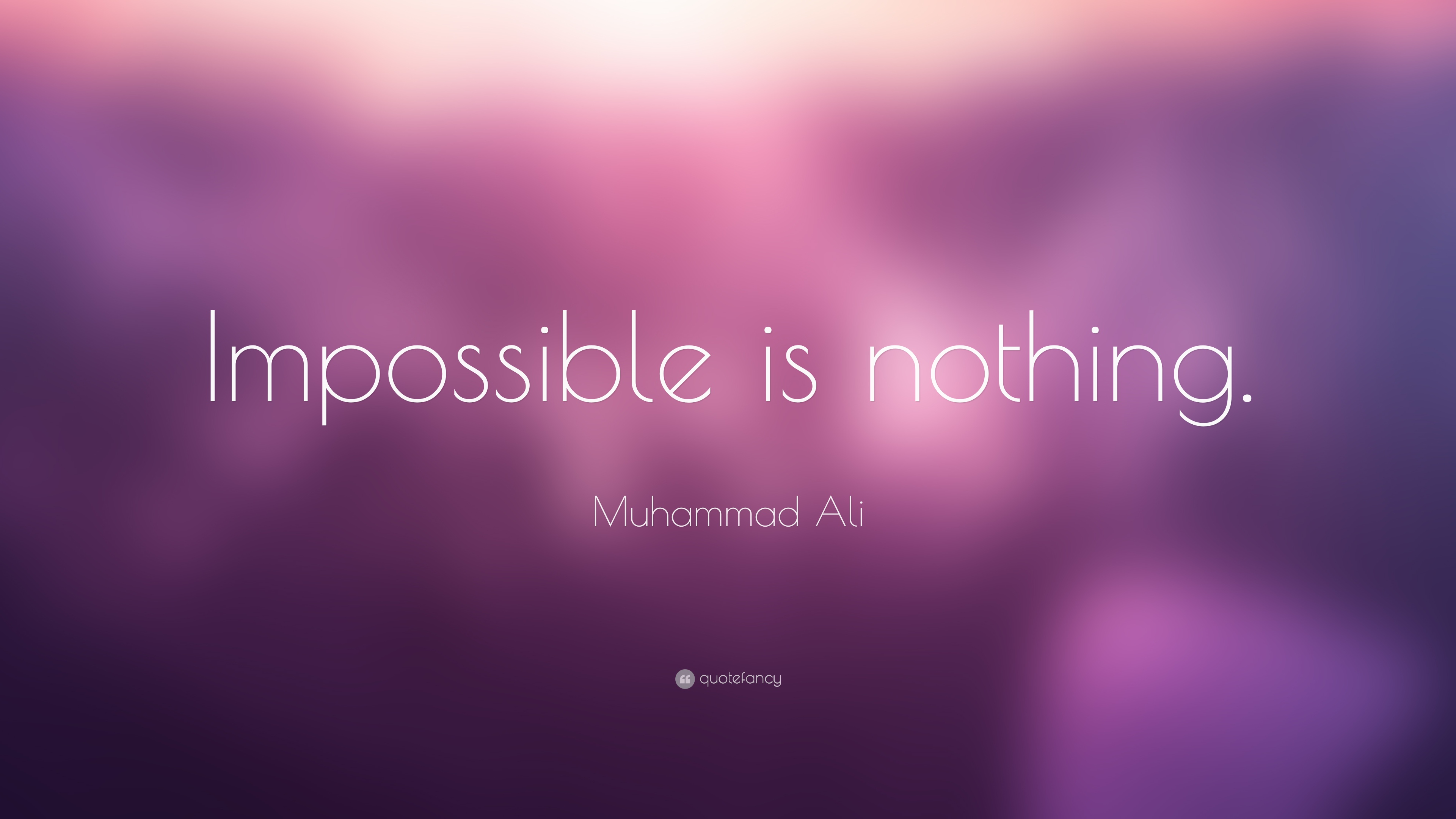 """Le Meilleur Muhammad Ali Quote """"Impossible Is Nothing """" Ce Mois Ci"""