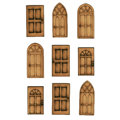 Le Meilleur Mini Doors Mdf Wood Shapes For Altered Art And Craft Projects Ce Mois Ci