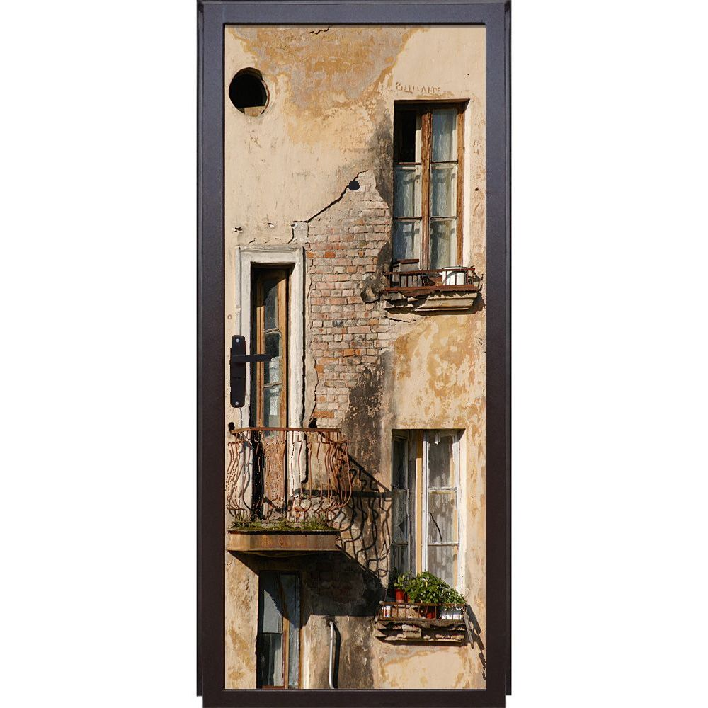 Le Meilleur Door Sticker Balcony Wallpaper Door Mural Vinyl Sticker Ce Mois Ci