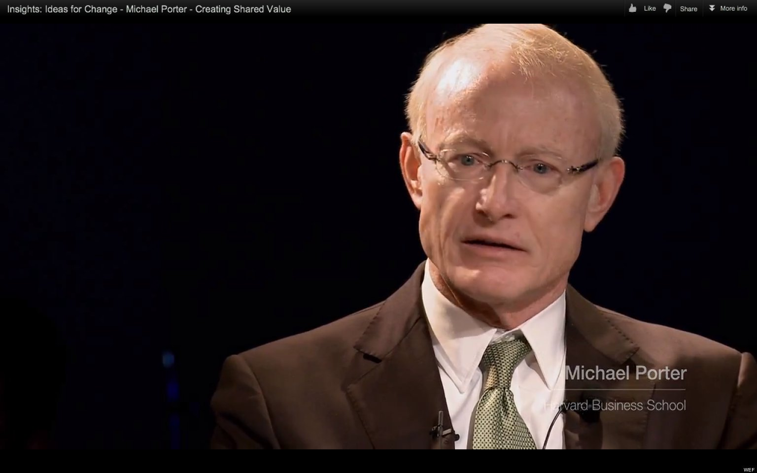 Le Meilleur Michael Porter On Creating Shared Value Video Huffpost Ce Mois Ci