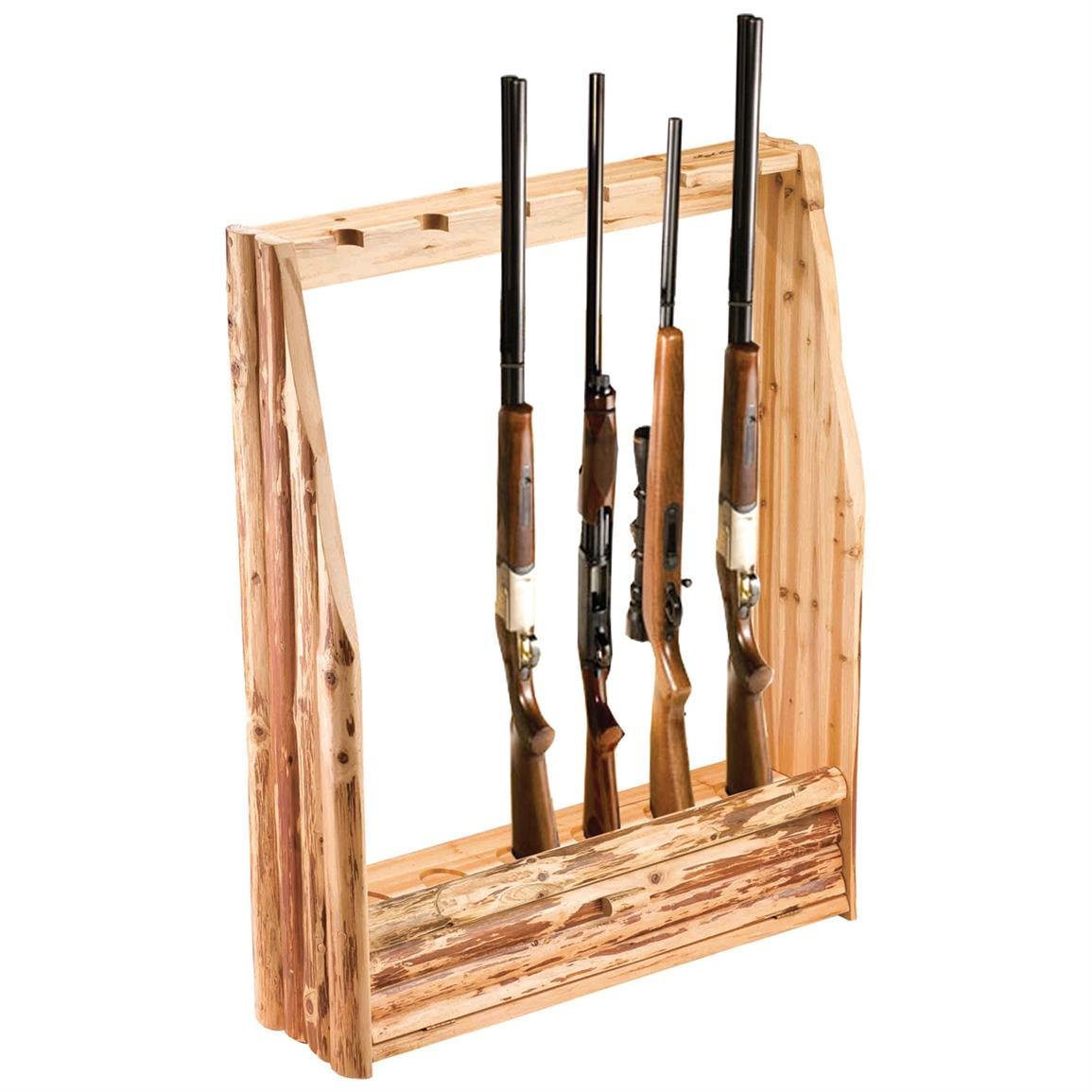 Le Meilleur Rush Creek™ Log 6 Gun Rack With Storage 143364 Gun Ce Mois Ci