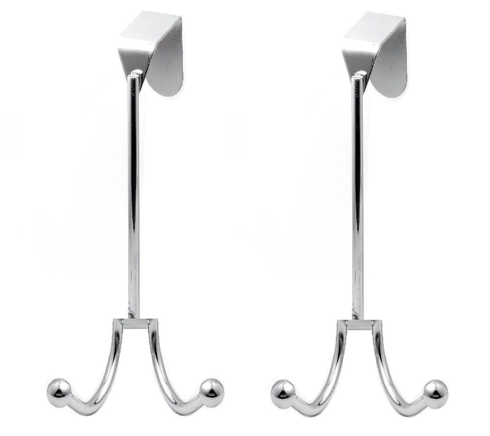 Le Meilleur 2 X Chrome Plated Twin Over The Door Ironing Hooks Hangers Ce Mois Ci
