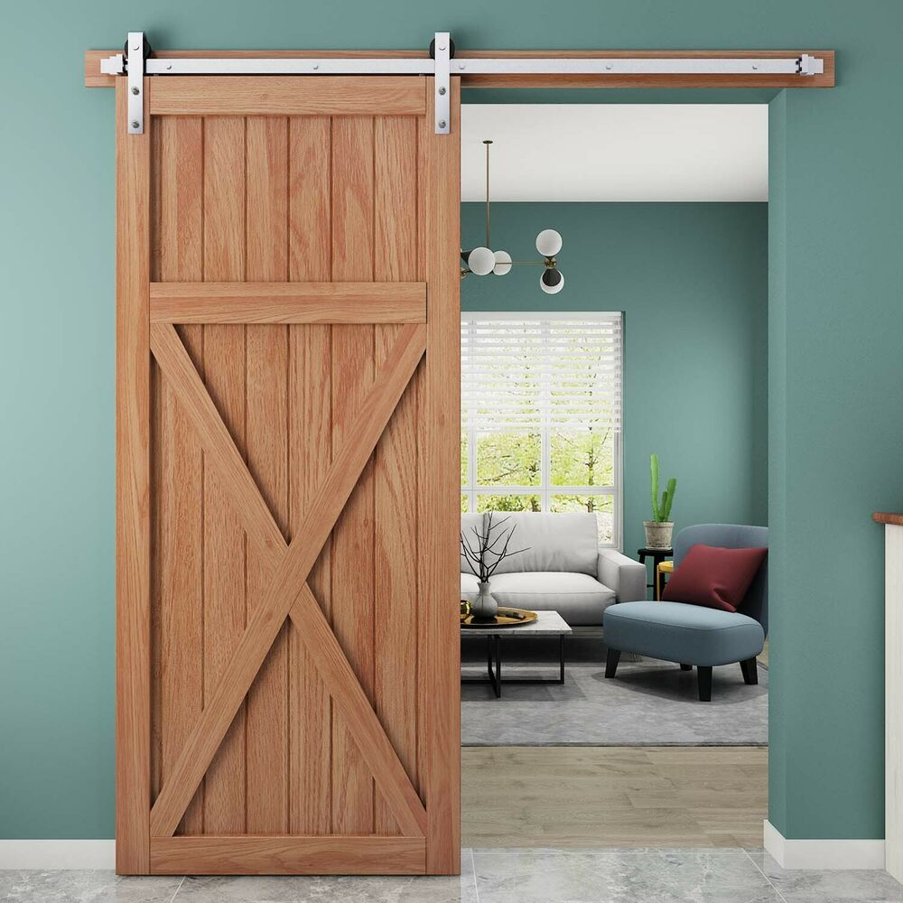 Le Meilleur Country Rustic Interior Stainless Steel Sliding Barn Door Ce Mois Ci