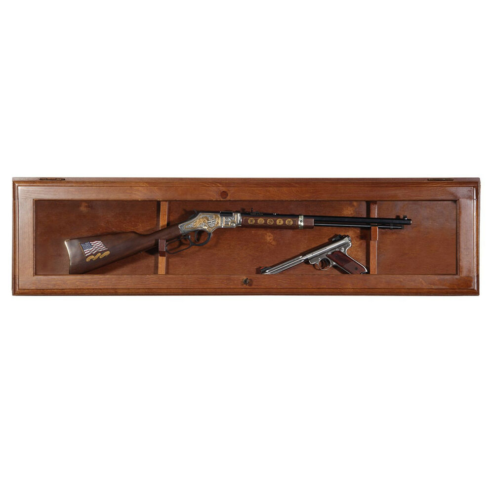 Le Meilleur Wall Mount Gun Display Cabinet Rack Shelf Rifle Storage Ce Mois Ci