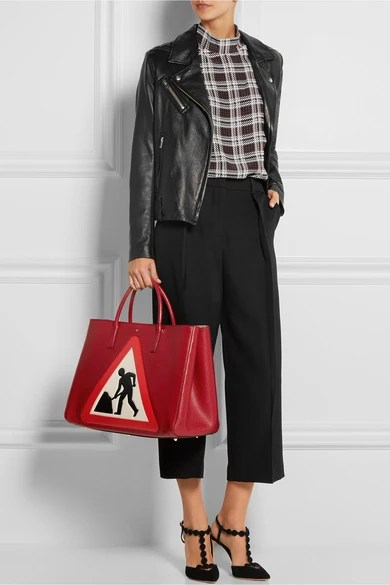 Le Meilleur Anya Hindmarch Ebury Maxi Men At Work Textured Leather Ce Mois Ci