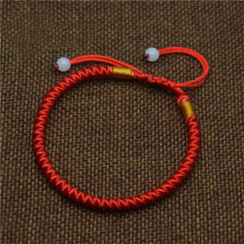 Le Meilleur Lucky Chinese Braided Red String Rope Cord Bracelet Gift Ce Mois Ci