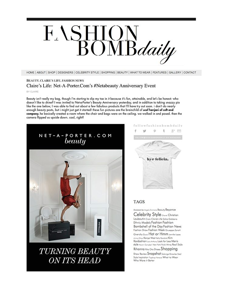 Le Meilleur Press Net A Porter Beauty Event As Featured In Fashion Ce Mois Ci