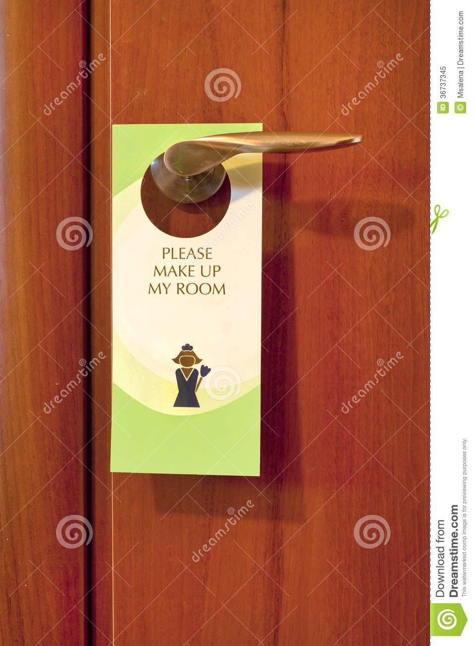 Le Meilleur Hotel Door Note Stock Image Image Of Maid Profession Ce Mois Ci