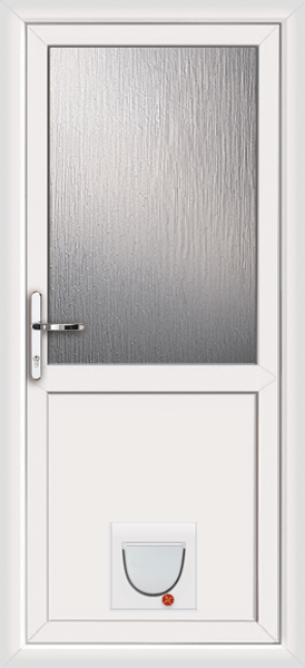 Le Meilleur White Plymouth Attina With Catflap Supply Only Upvc Door Ce Mois Ci