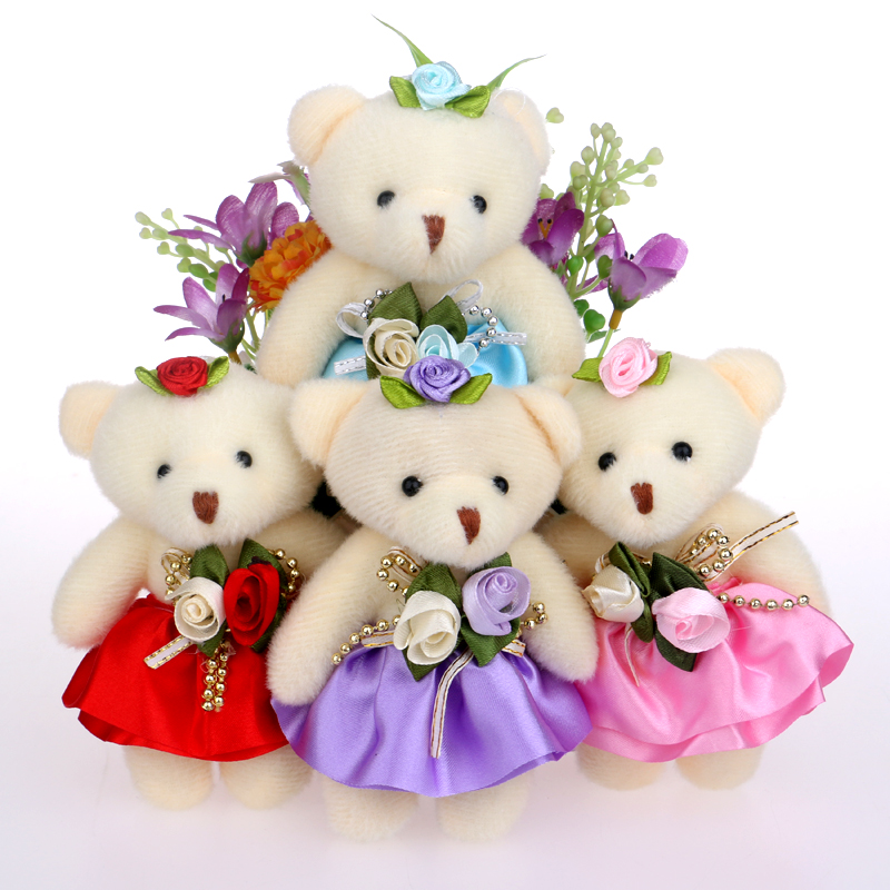 Le Meilleur Lovely Mini Bear Soft Plush Toy Phone Charm Stuffed Small Ce Mois Ci