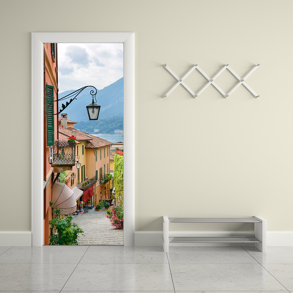 Le Meilleur Beautiful 3D Old Town More Door Stickers Ce Mois Ci