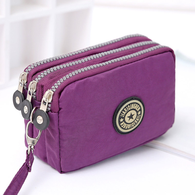 Le Meilleur Coin Purse Women Small Wallet Washer Wrinkle Fabric Phone Ce Mois Ci