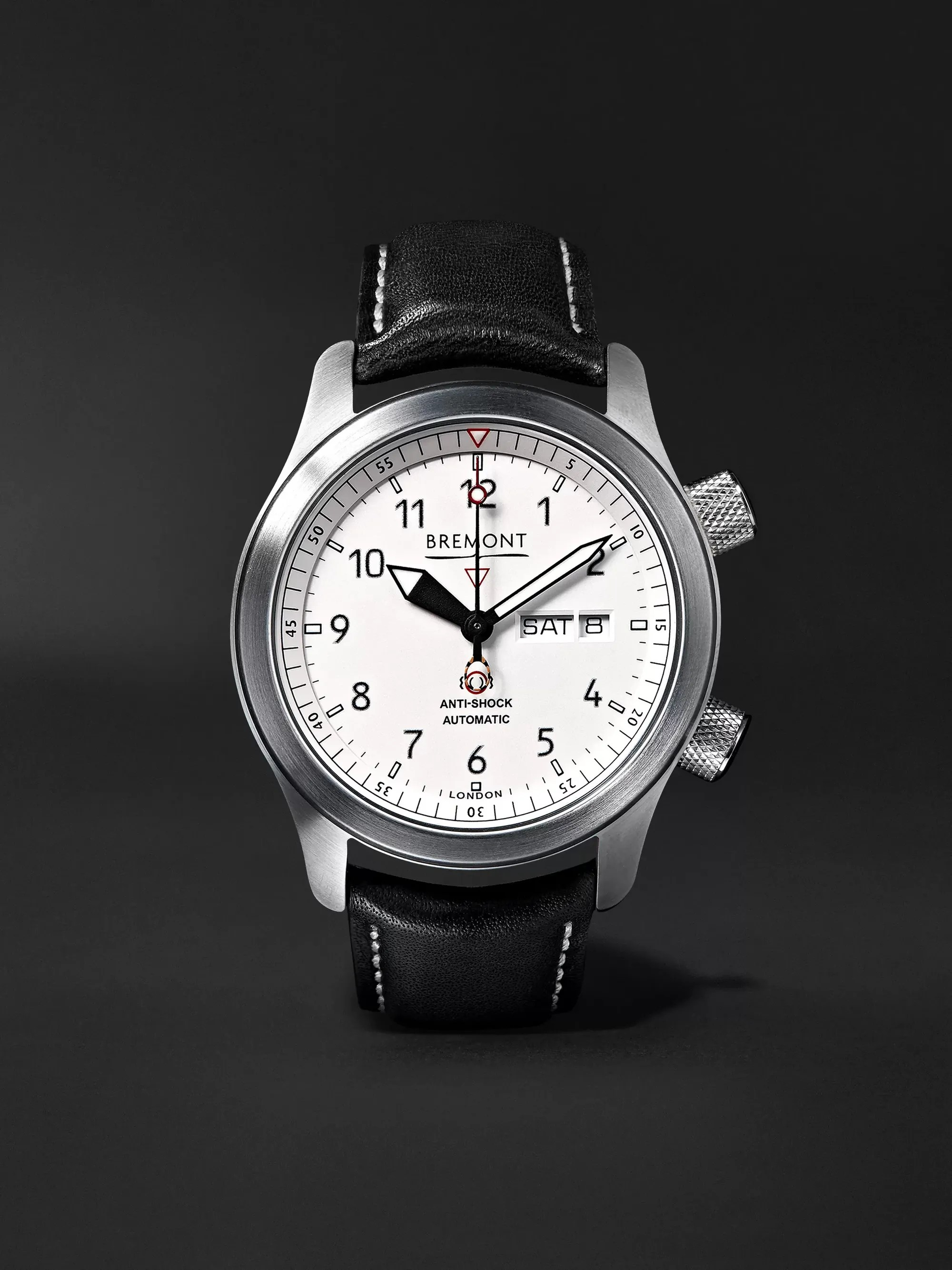 Le Meilleur White Mb Ii 43Mm Stainless Steel And Leather Watch Ref Ce Mois Ci