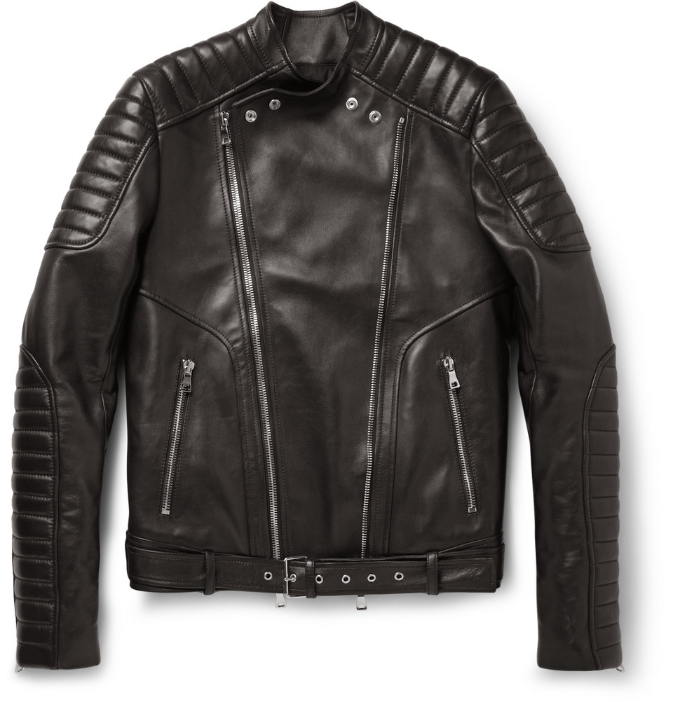 Le Meilleur Balmain Slimfit Quilted Leather Biker Jacket In Black For Ce Mois Ci