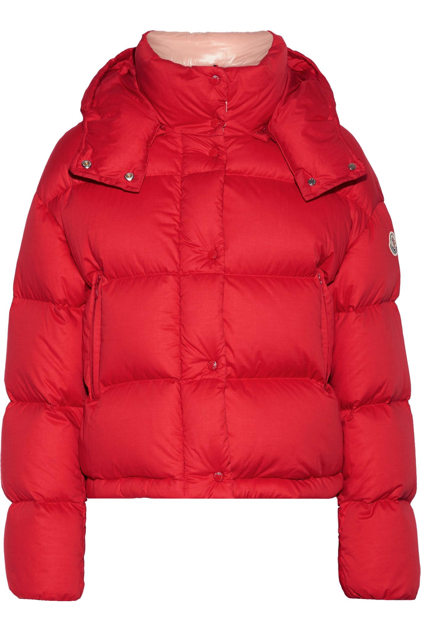 Le Meilleur Lyst Moncler Paeonia Quilted Cotton Canvas Down Coat In Red Ce Mois Ci