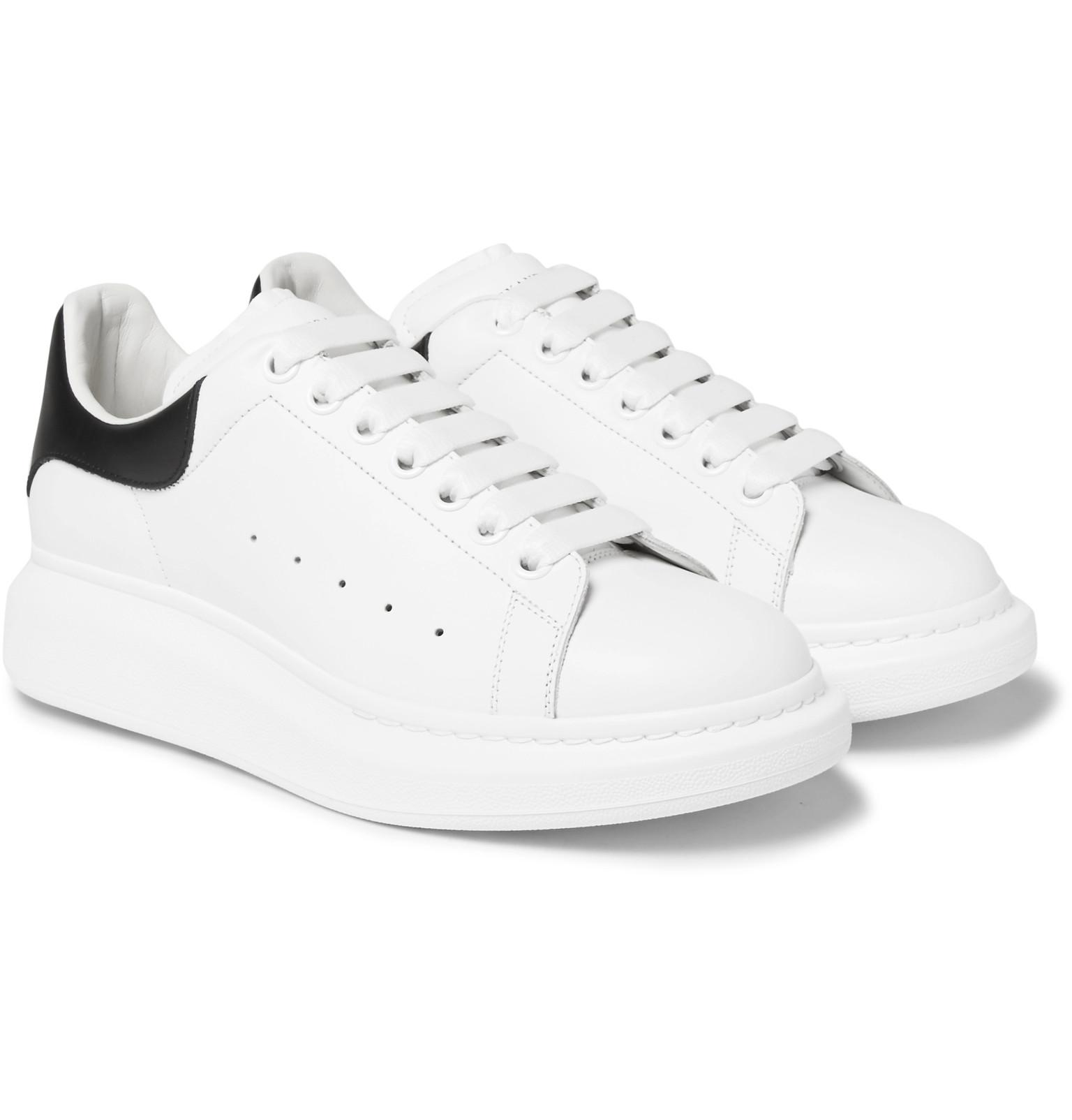 Le Meilleur Alexander Mcqueen Larry Exaggerated Sole Leather Sneakers Ce Mois Ci