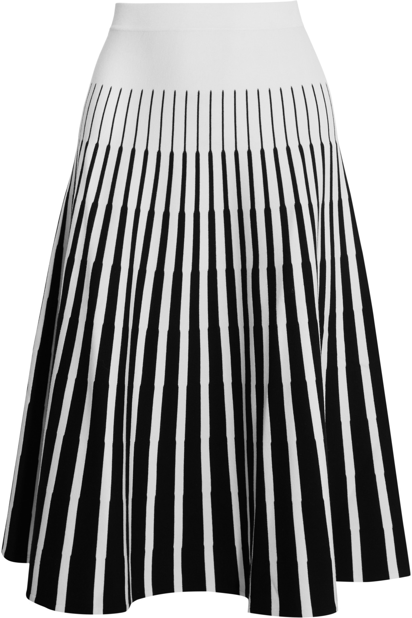 Le Meilleur Tomas Maier Striped Jersey Skirt In White Lyst Ce Mois Ci