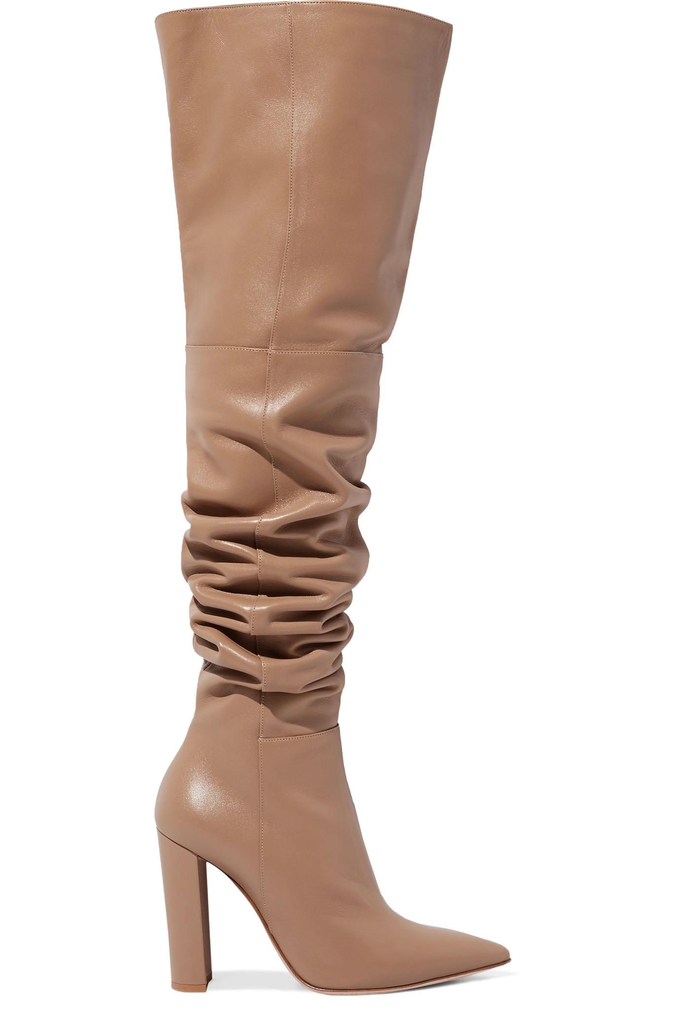 Le Meilleur Gianvito Rossi 100 Leather Over The Knee Boots Lyst Ce Mois Ci