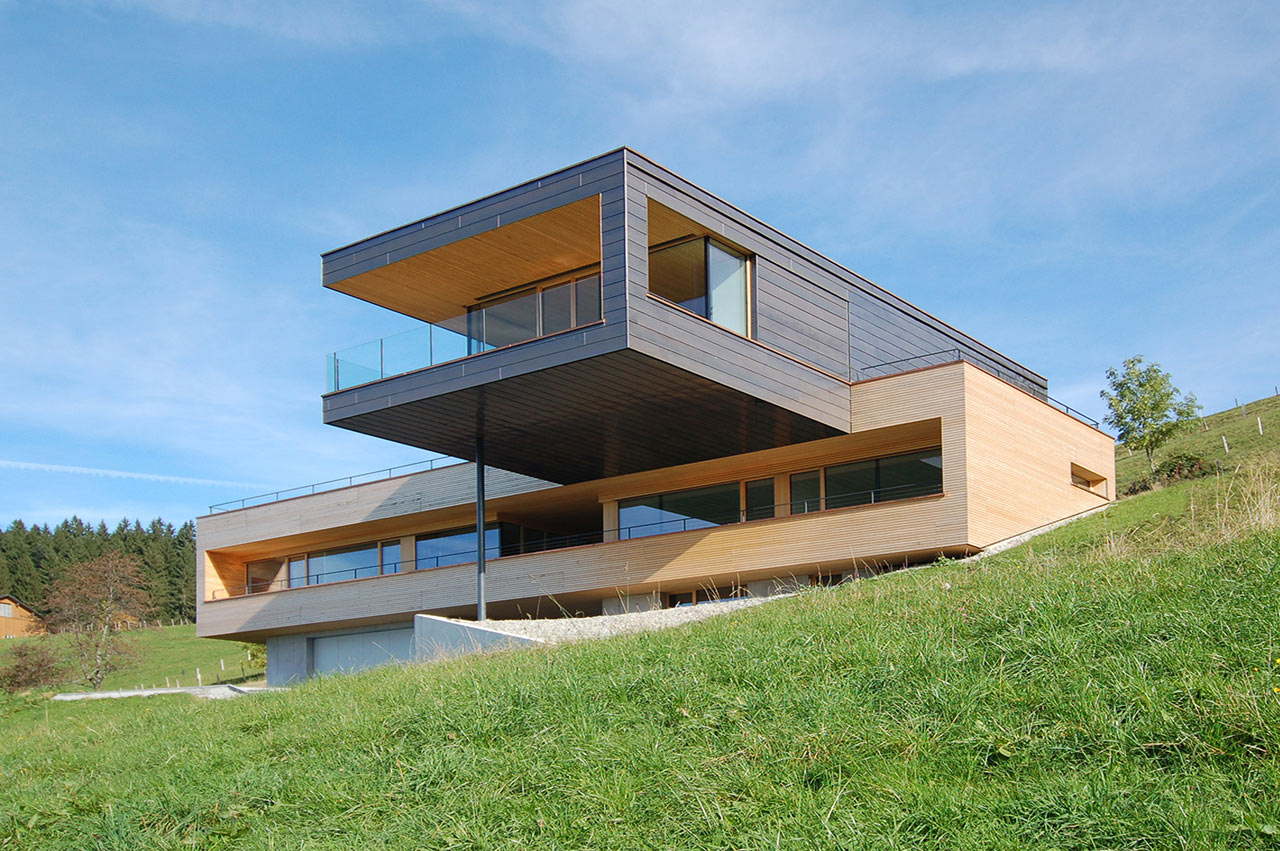 Le Meilleur A Cantilevered Home Overlooking A Lake In Austria Design Ce Mois Ci
