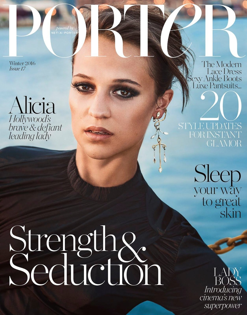 Le Meilleur Porter Magazine Winter 2016 Alicia Vikander By Ryan Ce Mois Ci