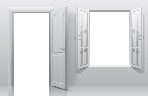 Le Meilleur White Doors With Window Vector Template Free Download Ce Mois Ci