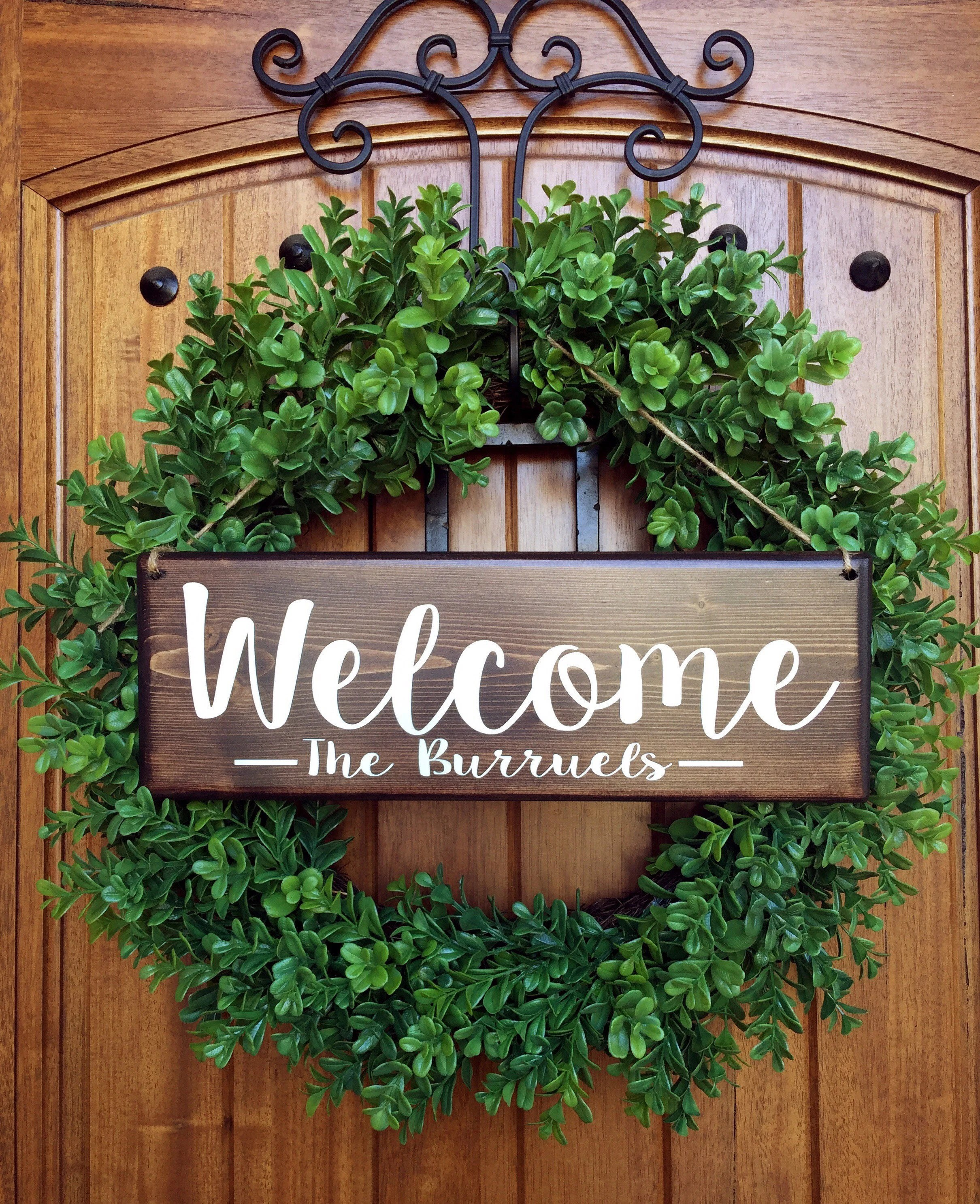 Le Meilleur Welcome Sign Welcome Door Sign Personalized Sign Family Ce Mois Ci