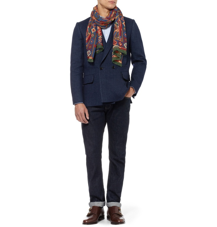 Le Meilleur Drake S Kelim Printed Wool And Silk Blend Scarf Mr Ce Mois Ci