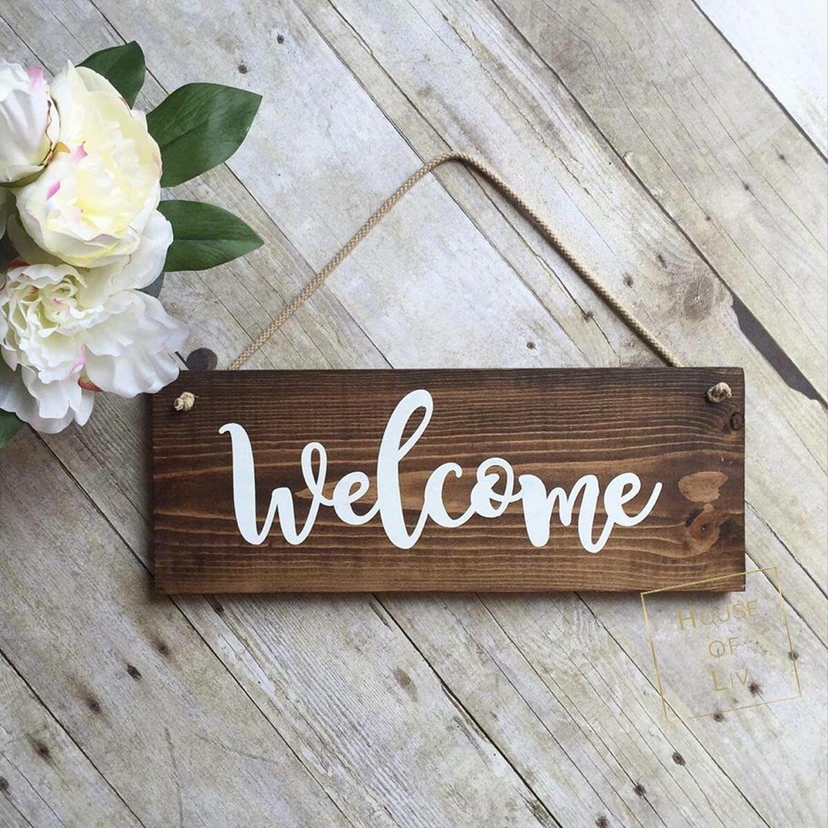 Le Meilleur Welcome Sign For Front Door Wreath Sign Outdoor Sign Ce Mois Ci