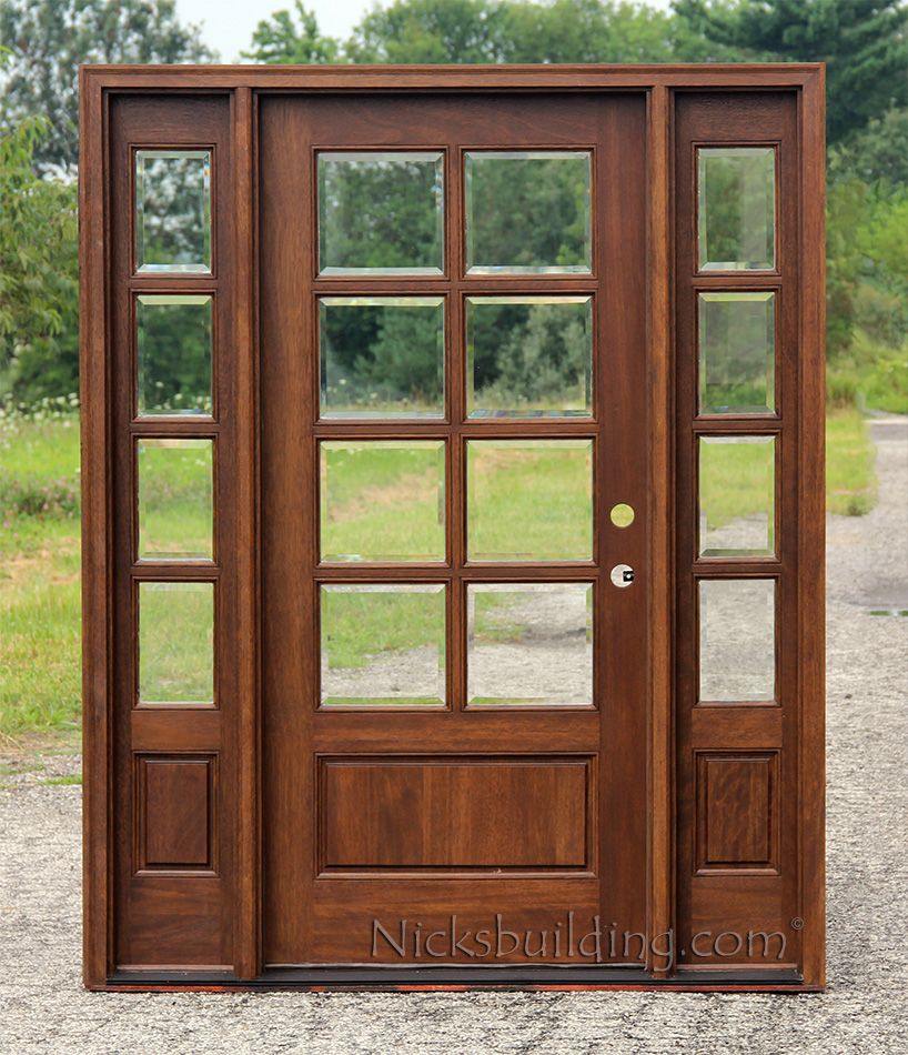Le Meilleur 8 Lite Exterior Door And Sidelights With Clear Beveled Ce Mois Ci