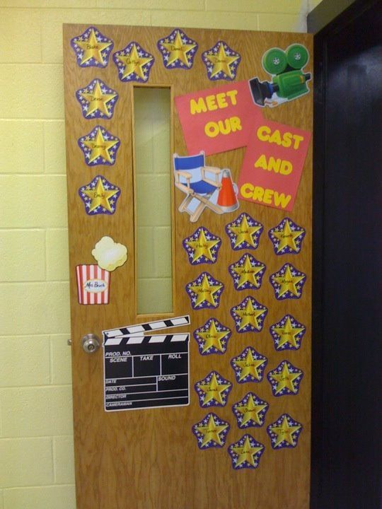 Le Meilleur Hollywood Classroom Door Display 2012 13 Mrs Ipock S Ce Mois Ci