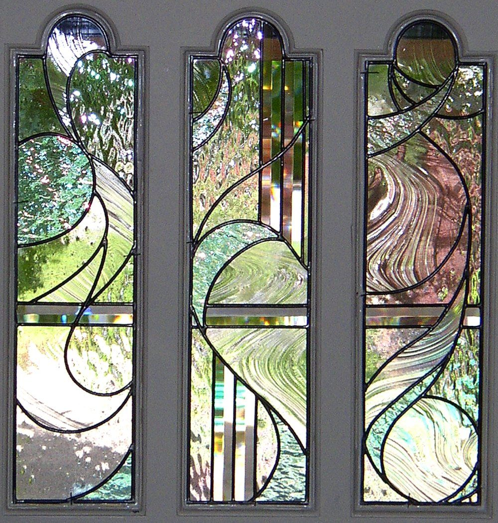 Le Meilleur Stained Glass Front Entry Door With Side Panels Kelley Ce Mois Ci
