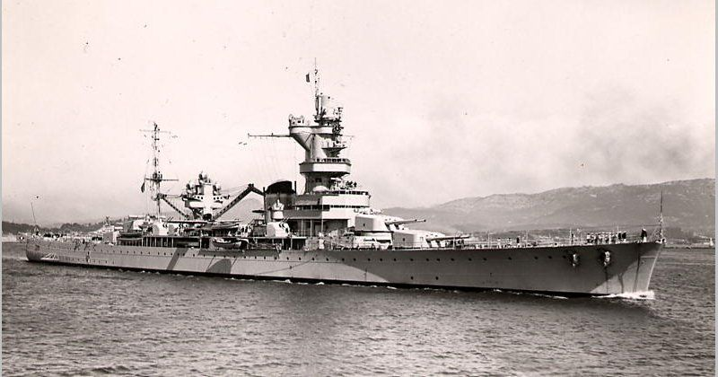 Le Meilleur French Heavy Cruiser Algerie Photo Possibly 1939 While Ce Mois Ci