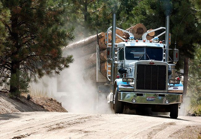 Le Meilleur A Truck Carries A Load Of Timber In Round Valley Idaho Ce Mois Ci