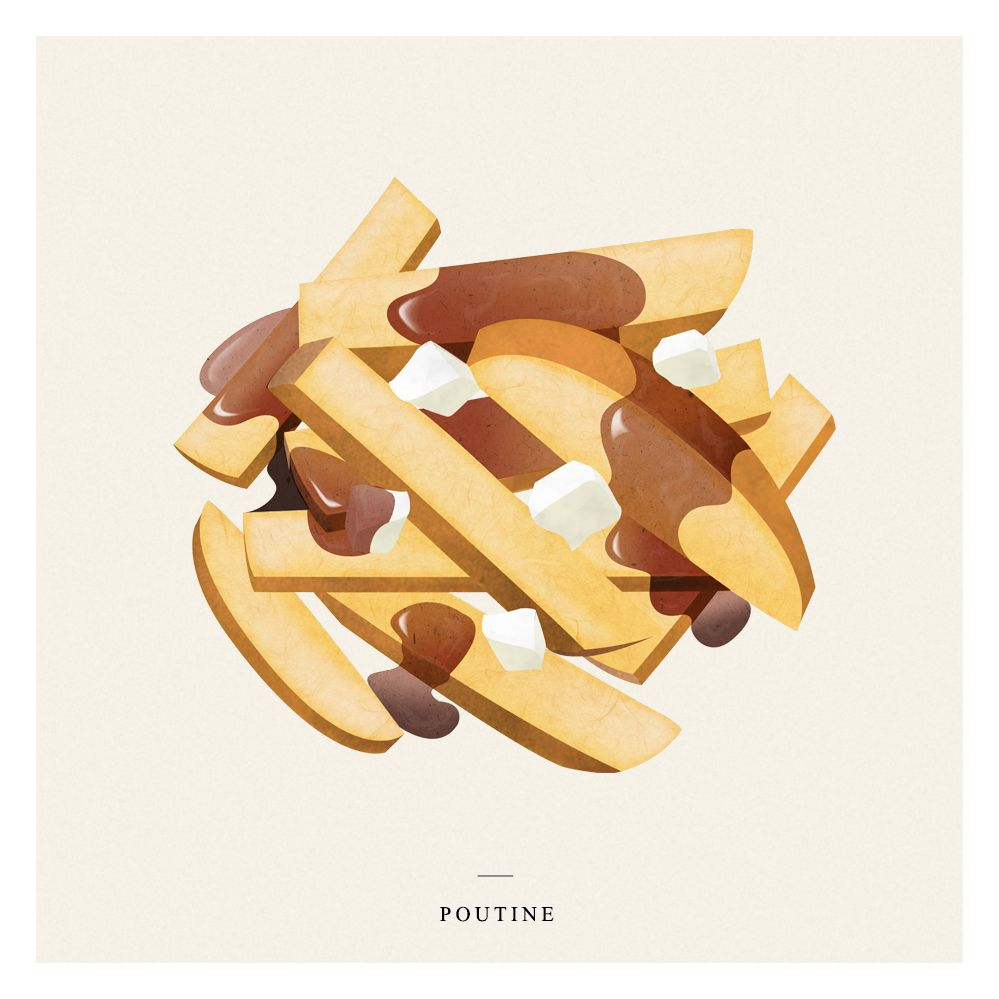 Le Meilleur 'Poutine' For Mr Porter By Rik Burgess Illustrations Ce Mois Ci