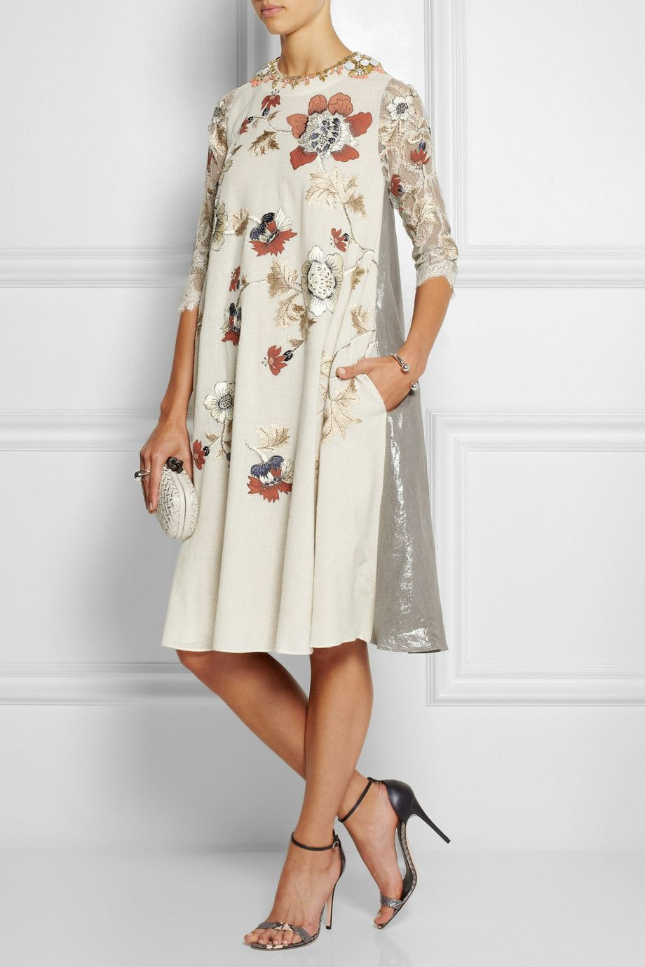 Le Meilleur Biyan Liana Embellished Embroidered Voile Lace And Lamé Ce Mois Ci