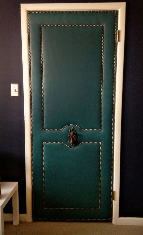 Le Meilleur Upholstering A Door For My Home Diy Door Doors Ce Mois Ci