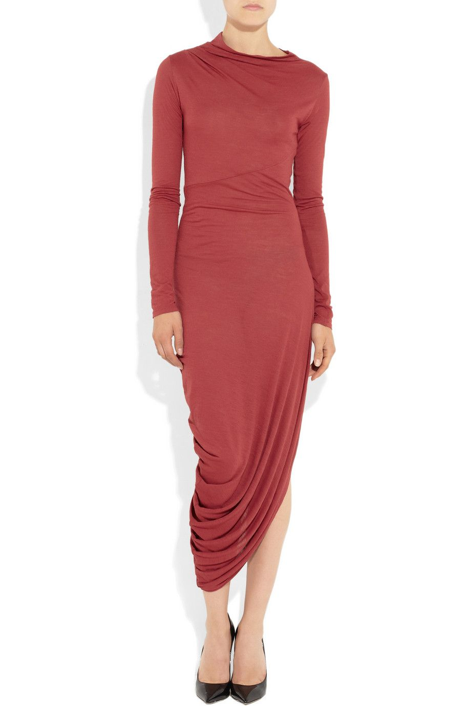 Le Meilleur Amanda Wakeley Asymmetric Draped Jersey Dress Net A Ce Mois Ci