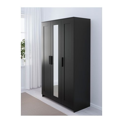 Le Meilleur Brimnes Wardrobe With 3 Doors Ikea The Mirror Door Can Be Ce Mois Ci