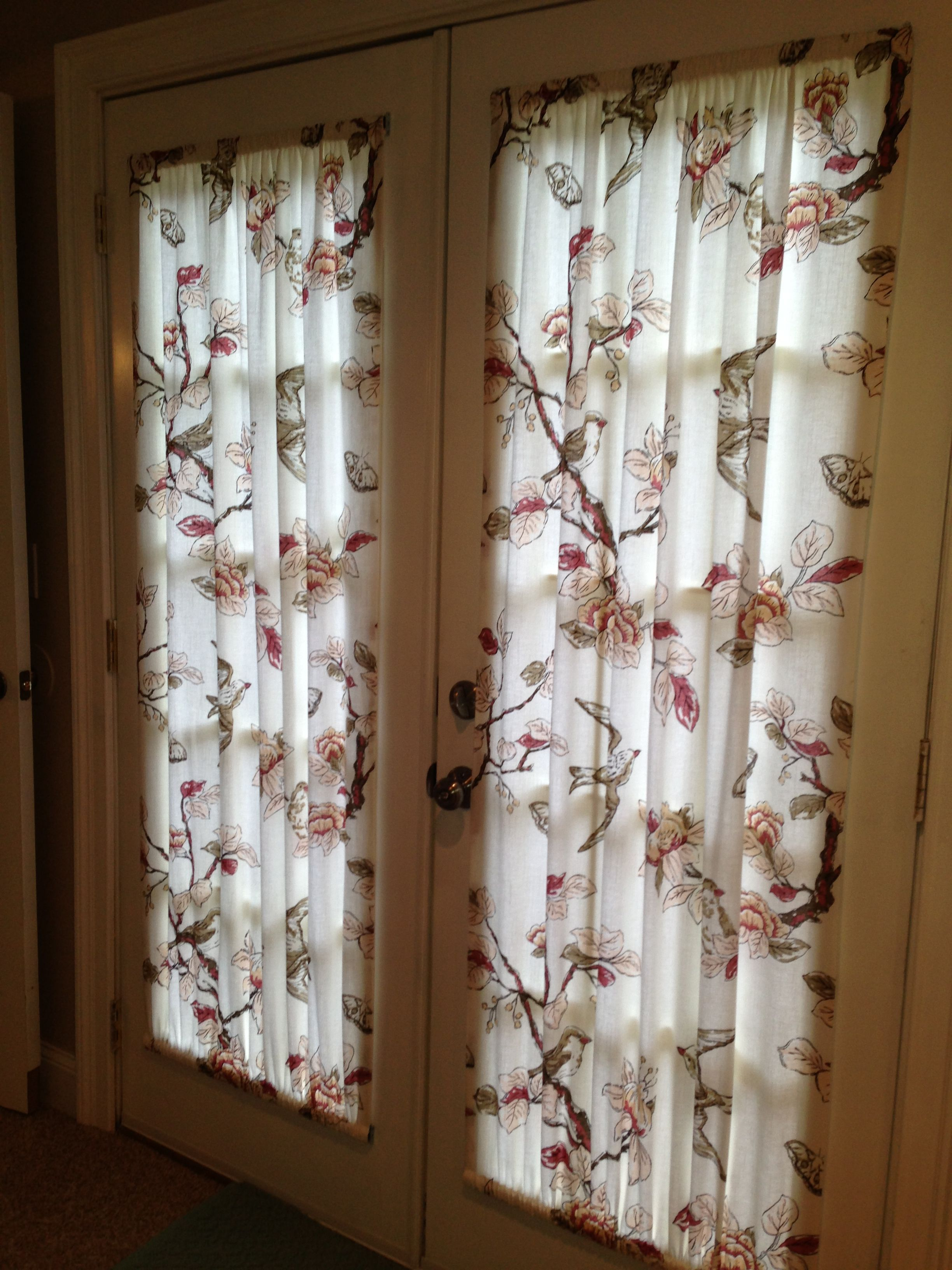 Le Meilleur French Door Curtains Made From A 19 00 Target Shower Ce Mois Ci
