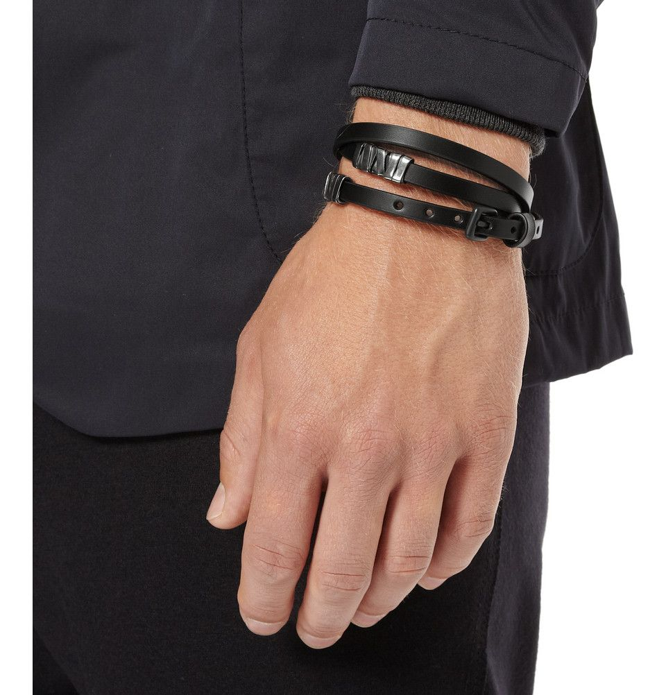 Le Meilleur Bottega Veneta Leather And Oxidised Sterling Silver Wrap Ce Mois Ci