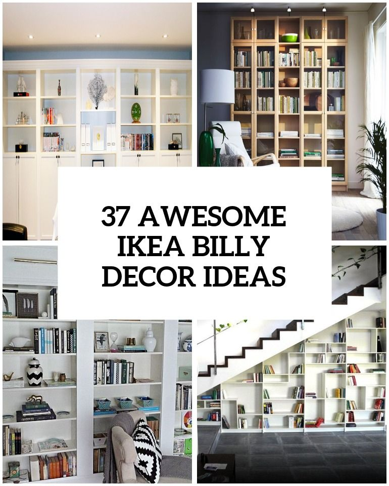 Le Meilleur 37 Awesome Ikea Billy Bookcases Ideas For Your Home Ce Mois Ci