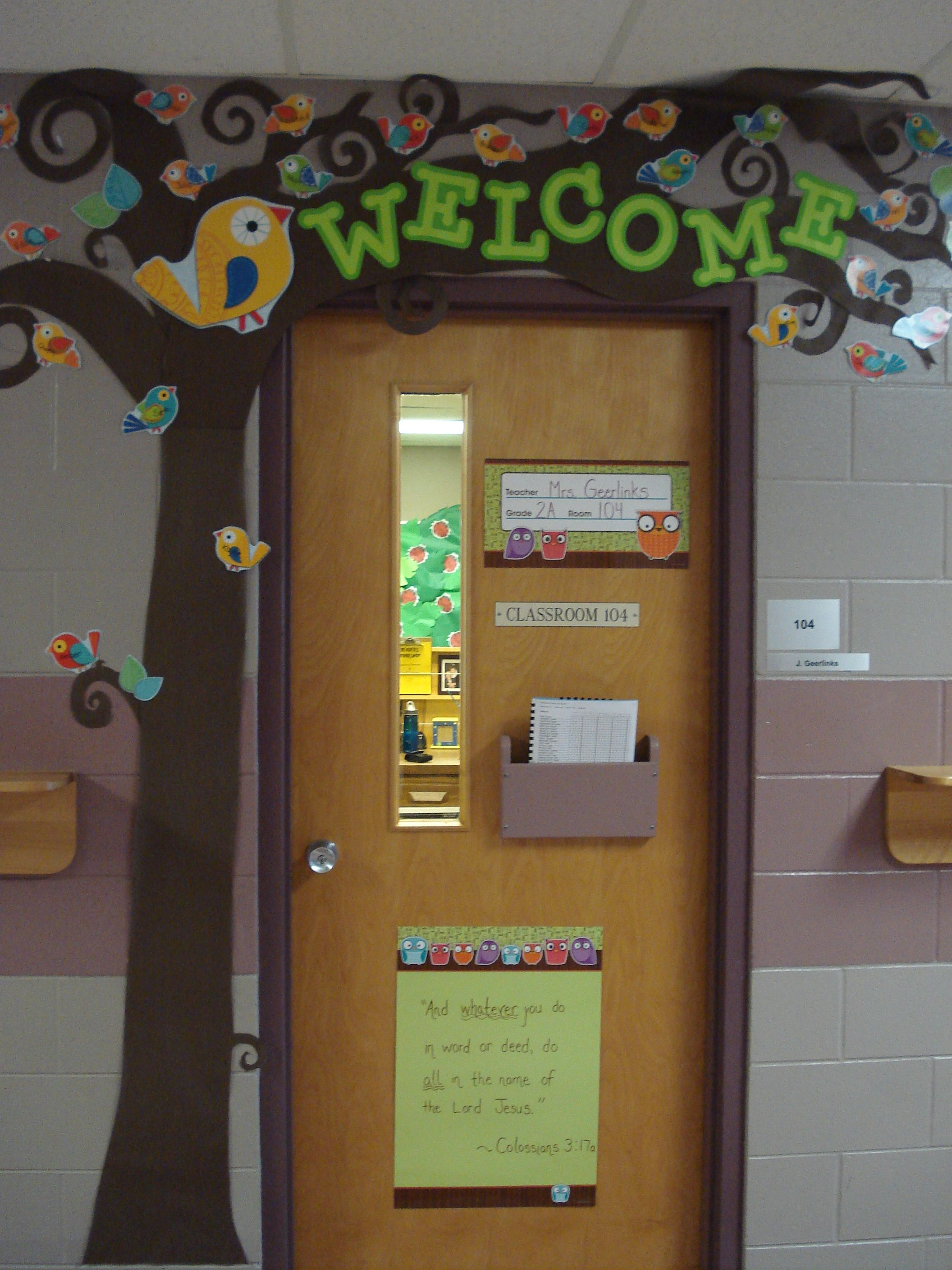 Le Meilleur Welcome Tree For Door With Students Names On Boho Birds Ce Mois Ci