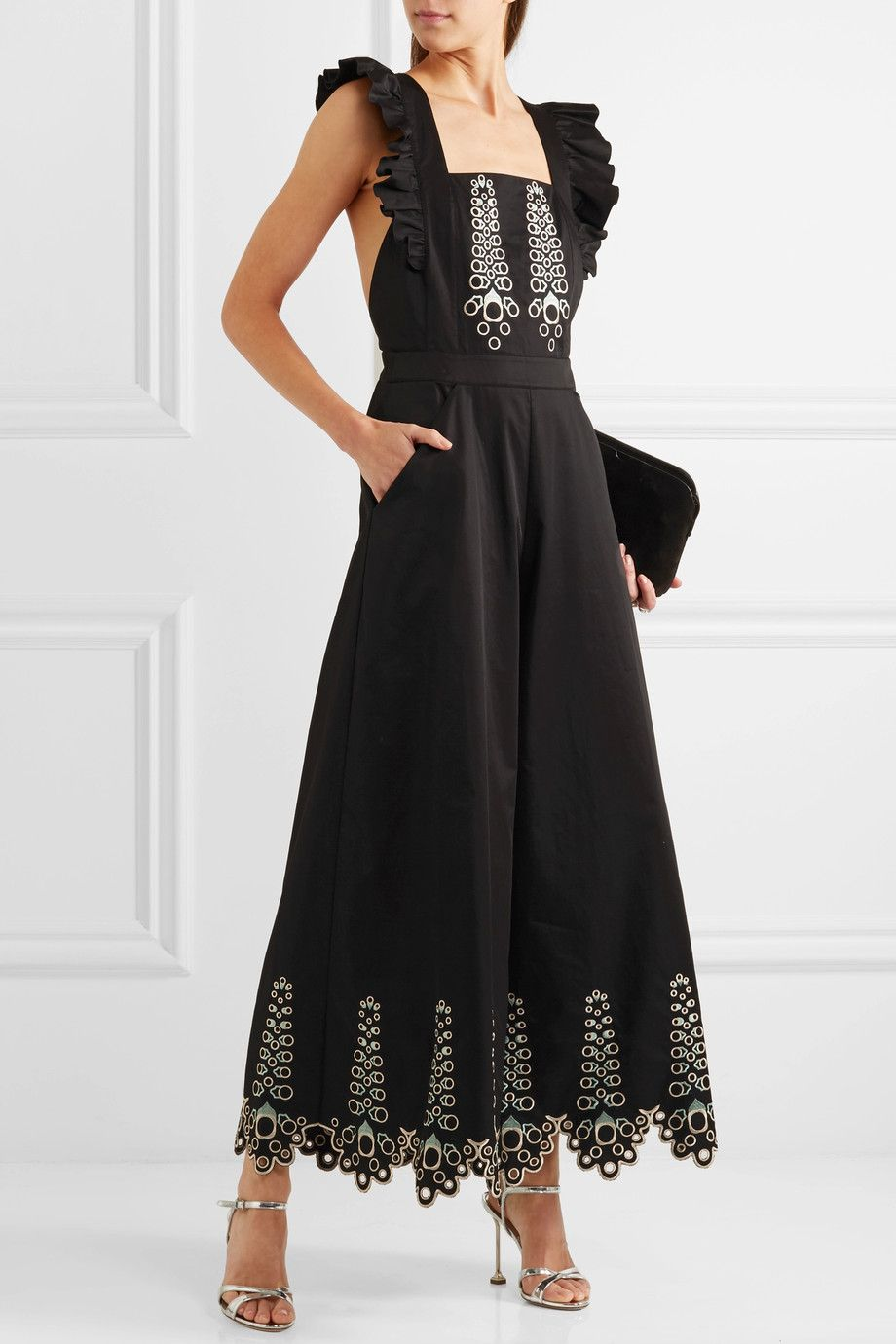 Le Meilleur Temperley London Amour Embroidered Cotton Poplin Ce Mois Ci