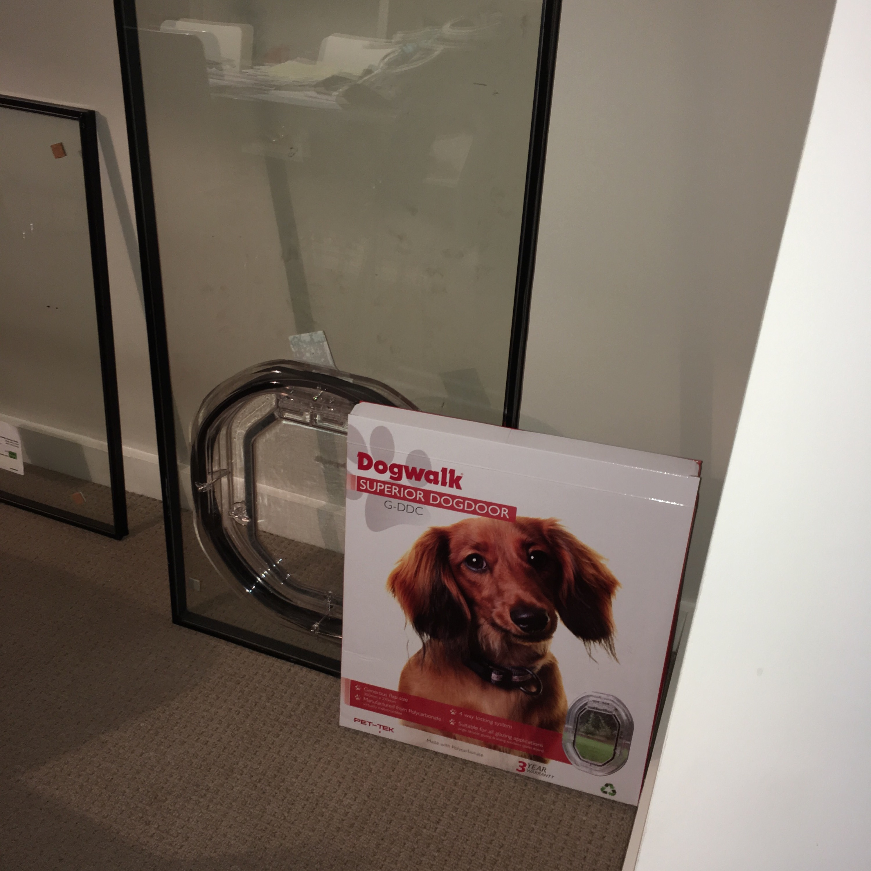 Le Meilleur Cat Flap Fitted Into Glass Including Patio French Door Ce Mois Ci