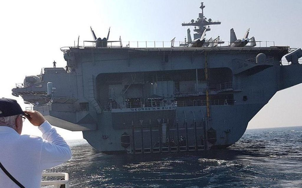 Le Meilleur World S Largest Warship Docks At Haifa The Times Of Israel Ce Mois Ci