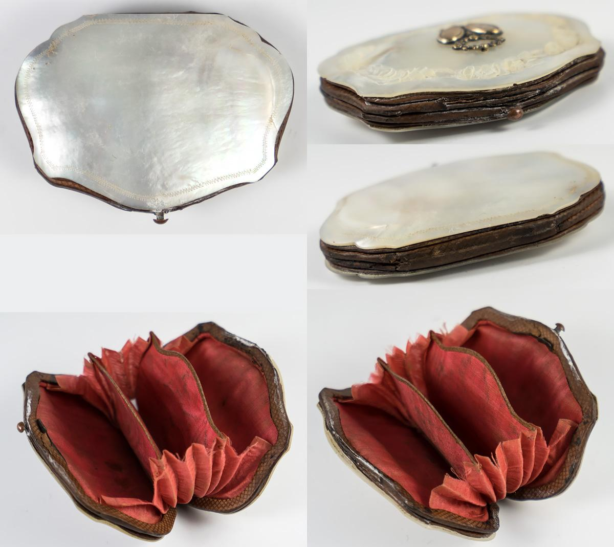Le Meilleur Antique French Coin Purse Carved Mother Of Pearl Ce Mois Ci